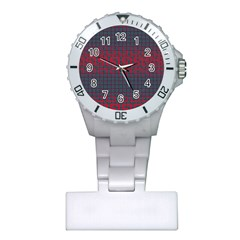 Abstract Tiling Pattern Background Plastic Nurses Watch