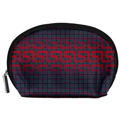 Abstract Tiling Pattern Background Accessory Pouches (large)