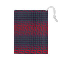 Abstract Tiling Pattern Background Drawstring Pouches (large)
