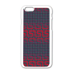 Abstract Tiling Pattern Background Apple iPhone 6/6S White Enamel Case