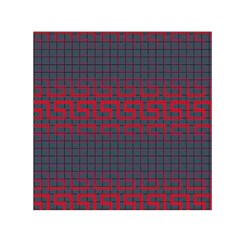 Abstract Tiling Pattern Background Small Satin Scarf (Square)