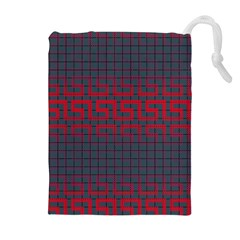 Abstract Tiling Pattern Background Drawstring Pouches (extra Large)