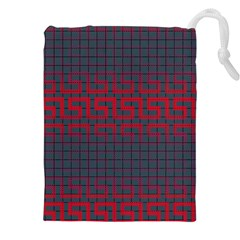 Abstract Tiling Pattern Background Drawstring Pouches (xxl)