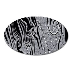 Abstract Swirling Pattern Background Wallpaper Oval Magnet