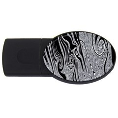 Abstract Swirling Pattern Background Wallpaper USB Flash Drive Oval (1 GB)