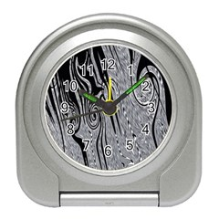 Abstract Swirling Pattern Background Wallpaper Travel Alarm Clocks