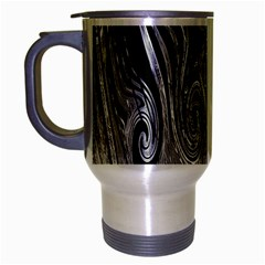 Abstract Swirling Pattern Background Wallpaper Travel Mug (silver Gray)