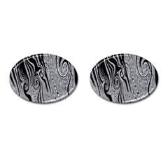 Abstract Swirling Pattern Background Wallpaper Cufflinks (oval)
