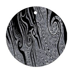 Abstract Swirling Pattern Background Wallpaper Round Ornament (two Sides)