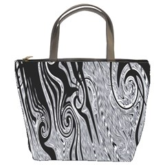 Abstract Swirling Pattern Background Wallpaper Bucket Bags