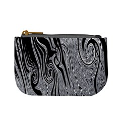 Abstract Swirling Pattern Background Wallpaper Mini Coin Purses