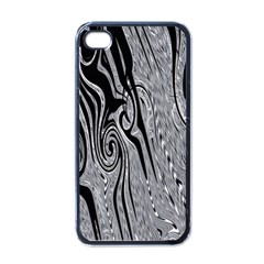 Abstract Swirling Pattern Background Wallpaper Apple Iphone 4 Case (black)