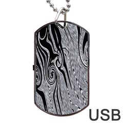 Abstract Swirling Pattern Background Wallpaper Dog Tag Usb Flash (one Side)