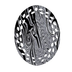 Abstract Swirling Pattern Background Wallpaper Oval Filigree Ornament (Two Sides)