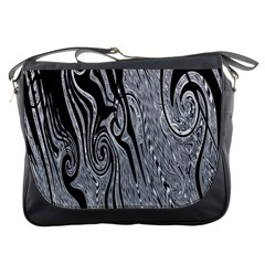 Abstract Swirling Pattern Background Wallpaper Messenger Bags