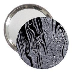 Abstract Swirling Pattern Background Wallpaper 3  Handbag Mirrors