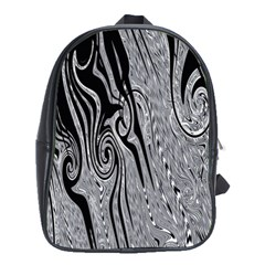 Abstract Swirling Pattern Background Wallpaper School Bags (xl)
