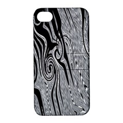 Abstract Swirling Pattern Background Wallpaper Apple iPhone 4/4S Hardshell Case with Stand