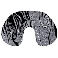 Abstract Swirling Pattern Background Wallpaper Travel Neck Pillows