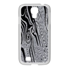 Abstract Swirling Pattern Background Wallpaper Samsung GALAXY S4 I9500/ I9505 Case (White)