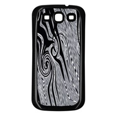 Abstract Swirling Pattern Background Wallpaper Samsung Galaxy S3 Back Case (Black)
