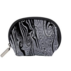 Abstract Swirling Pattern Background Wallpaper Accessory Pouches (Small)