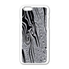 Abstract Swirling Pattern Background Wallpaper Apple Iphone 6/6s White Enamel Case