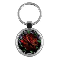 Abstract Green And Red Background Key Chains (Round)