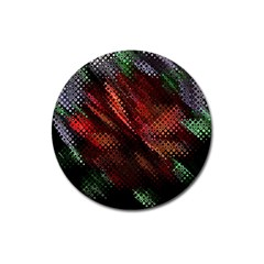 Abstract Green And Red Background Magnet 3  (Round)