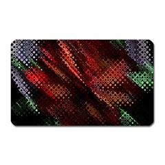 Abstract Green And Red Background Magnet (Rectangular)