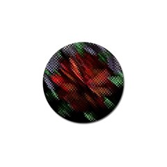 Abstract Green And Red Background Golf Ball Marker