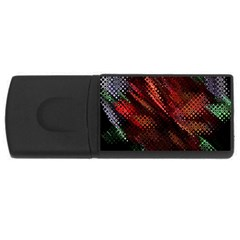 Abstract Green And Red Background USB Flash Drive Rectangular (2 GB)