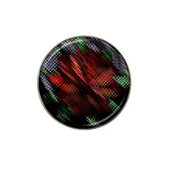 Abstract Green And Red Background Hat Clip Ball Marker (10 Pack)