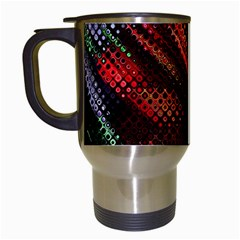 Abstract Green And Red Background Travel Mugs (white)