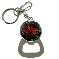 Abstract Green And Red Background Button Necklaces