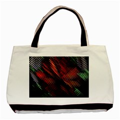 Abstract Green And Red Background Basic Tote Bag