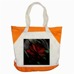 Abstract Green And Red Background Accent Tote Bag