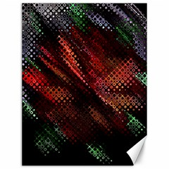 Abstract Green And Red Background Canvas 12  x 16