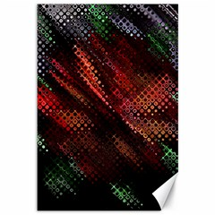 Abstract Green And Red Background Canvas 12  X 18