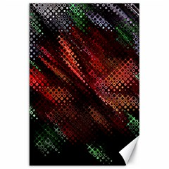 Abstract Green And Red Background Canvas 20  X 30