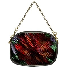 Abstract Green And Red Background Chain Purses (two Sides)