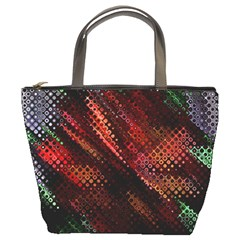 Abstract Green And Red Background Bucket Bags