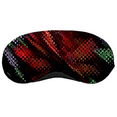 Abstract Green And Red Background Sleeping Masks