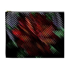 Abstract Green And Red Background Cosmetic Bag (XL)