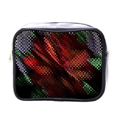 Abstract Green And Red Background Mini Toiletries Bags