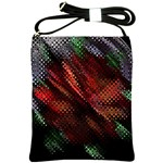 Abstract Green And Red Background Shoulder Sling Bags Front