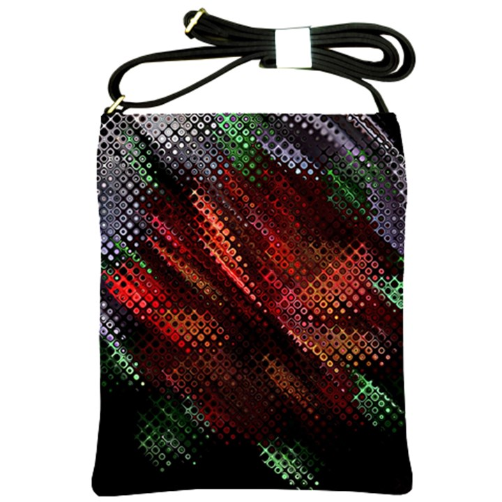 Abstract Green And Red Background Shoulder Sling Bags