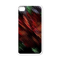 Abstract Green And Red Background Apple Iphone 4 Case (white)