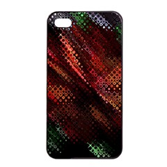 Abstract Green And Red Background Apple Iphone 4/4s Seamless Case (black)