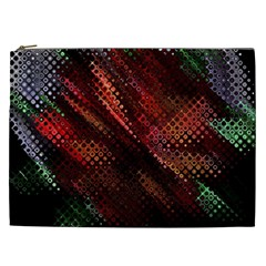 Abstract Green And Red Background Cosmetic Bag (XXL)